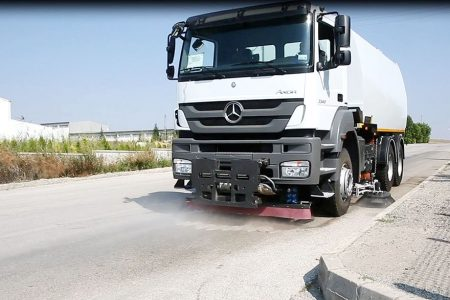 High Pressure Washing System Erdemli Sweepers Optional Equipments