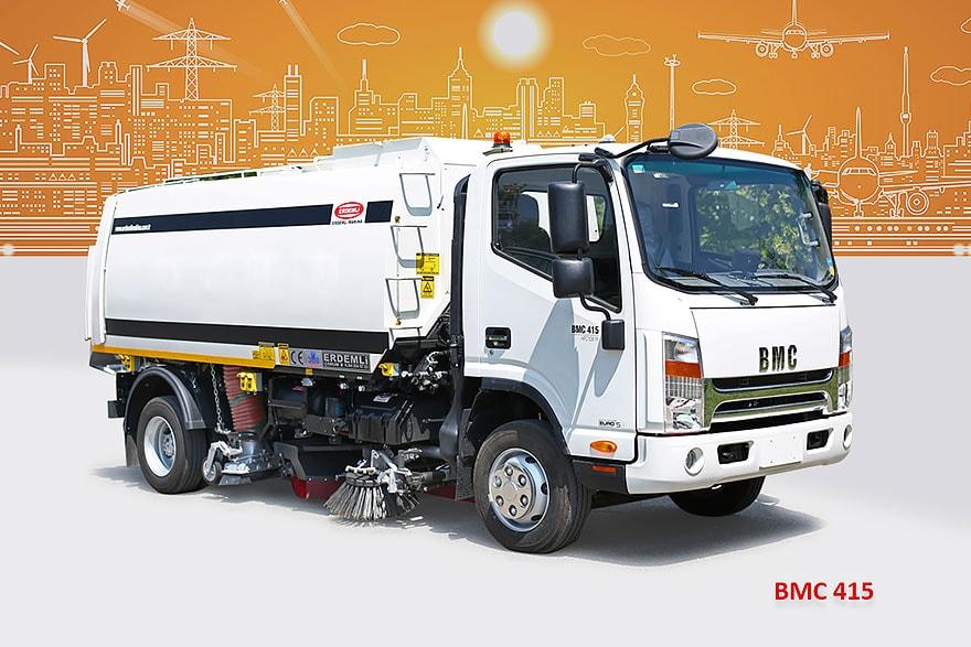 Sample Vacuum Road Sweepers On BMC Trucks Erdemli Sweepers