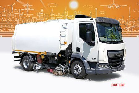 Sample Vacuum Road Sweepers On Daf Trucks Erdemli Sweepers