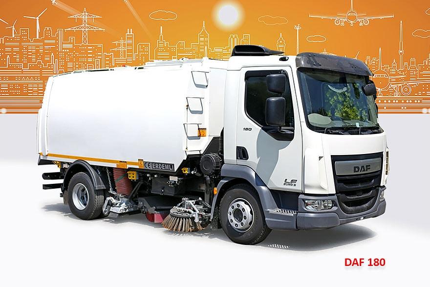 Sample Vacuum Road Sweepers On Daf Trucks Erdemli Sweepers
