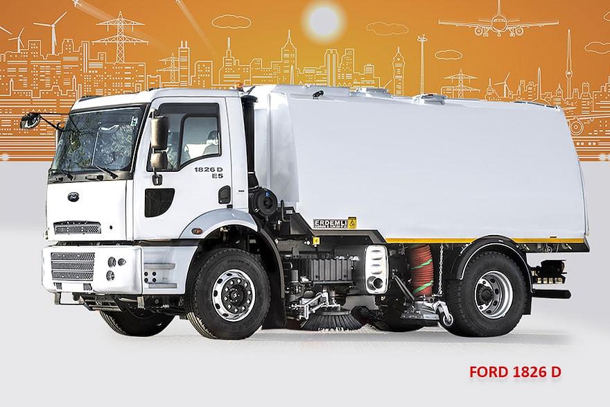 Sample Vacuum Road Sweepers On Ford Trucks Erdemli Sweepers