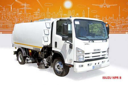 Sample Vacuum Road Sweepers On Isuzu Trucks Erdemli Sweepers