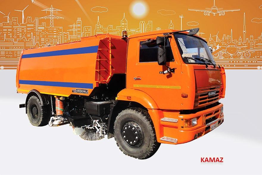 Sample Vacuum Road Sweepers On Kamaz Trucks Erdemli Sweepers