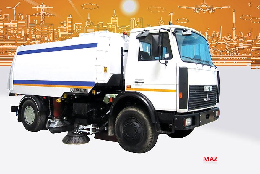 Sample Vacuum Road Sweepers On Maz Trucks Erdemli Sweepers