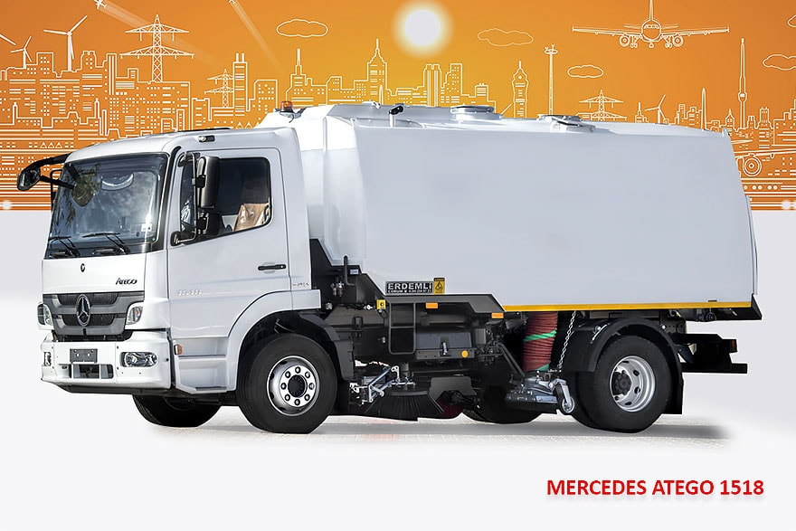 Sample Vacuum Road Sweepers On Mercedes Trucks Erdemli Sweepers