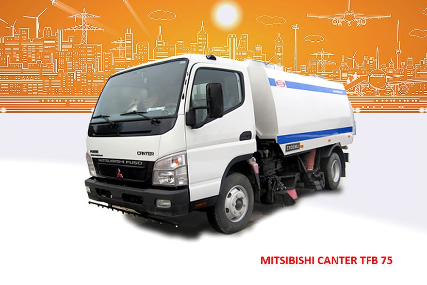 Sample Vacuum Road Sweepers On Mitsubishi Trucks Erdemli Sweepers