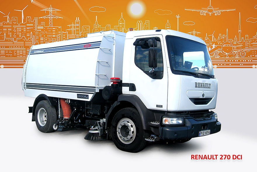 Sample Vacuum Road Sweepers On Renault Trucks Erdemli Sweepers