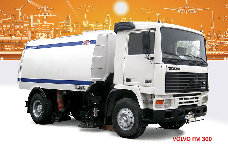 Sample Vacuum Road Sweepers On Volvo Trucks Erdemli Sweepers